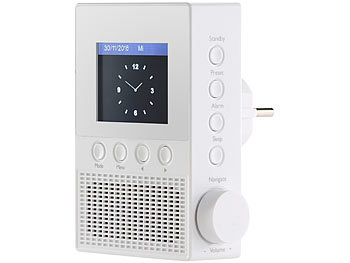 VR-Radio Steckdosen-Internetradio IRS-300 mit WLAN, 6,1-cm-Display, 6 Watt VR-Radio Internetradio mit WLAN & App-Steuerung