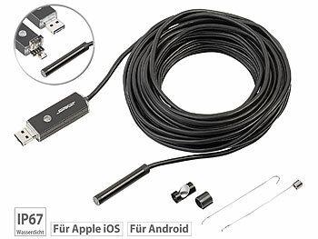 Somikon schlauchkamera usb hd endoskop kamera für pc und otg