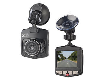 "Dash Camera: NavGear VGA-Dashcam mit Bewegungserkennung und 6,1-cm-Farb-Display (2,4"")"