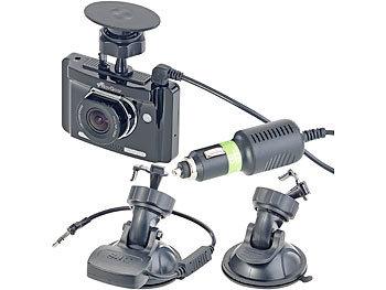 NavGear Full-HD-Dashcam mit autom. Nachtsicht-Modus, G-Sensor & GPS-Empfänger NavGear Dashcams mit G-Sensoren und GPS (Full HD)