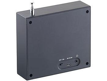 vr radio digitales dab fm radio mit akku dual wecker rds lcd display timer. Black Bedroom Furniture Sets. Home Design Ideas