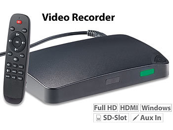 "HDMI Recorder: auvisio HDMI-Video-Rekorder ""Game Capture V3"", Full HD, USB-/microSD-Aufnahme"