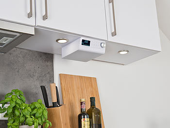 VR-Radio Küchenunterbauradio: Unterbau-WLAN-Küchenradio mit ...