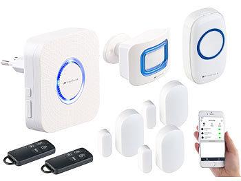 visortech alexa alarm 8 tlg wlan alarmanlage klingel alexa kompatibel bis zu 50 sensoren. Black Bedroom Furniture Sets. Home Design Ideas