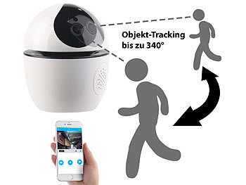 7links WLAN-IP-Überwachungskamera mit Objekt-Tracking & App, Full HD, 360° 7links WLAN-IP-Überwachungskameras mit Objekt-Tracking & App