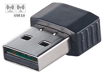 WLAN Dongle: 7links Nano-WLAN-Stick WS-602.ac mit bis zu 600 Mbit/s (802.11ac), USB 2.0