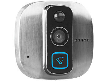 somikon kamera f r haust r digitaler hd t rspion mit klingel bewegungsmelder wifi und app spion. Black Bedroom Furniture Sets. Home Design Ideas