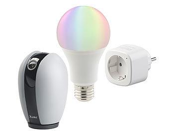 Luminea WLAN Steckdose: Smart-Home-Starter-Set, kompatibel zu Amazon ...