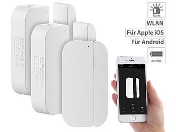 3er-Set WiFi Tür & Fensteralarm, Alexa und Google Assistant komp. / Türsensor