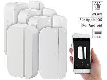 5er-Set WiFi Tür & Fensteralarm, Alexa und Google Assistant komp. / Fensteralarm