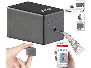 Micro-HD-Videokamera DV-800 mit Bluetooth, Konfiguration per App & USB / Spycam