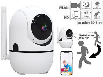 WLAN-IP-Überwachungskamera mit Objekt-Tracking & App, HD, 360° / Überwachungskamera