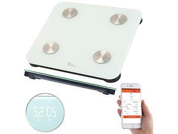 7in1-Körperanalysewaage aus Glas mit Bluetooth, App und Nutzer-Erkennung 5