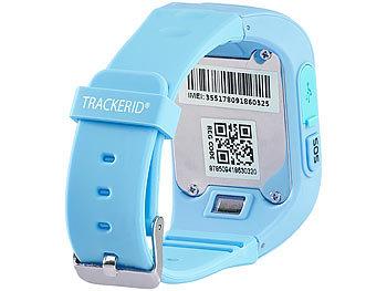Kinder-Smartwatch PW-110.kids mit Telefon- und SOS-Funktion, GPS-/LBS-Tracking, blau 0