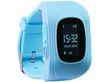 Kinder-Smartwatch PW-110.kids mit Telefon- und SOS-Funktion, GPS-/LBS-Tracking, blau 1