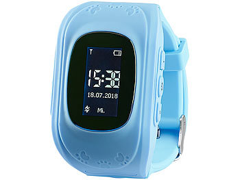 Kinder-Smartwatch PW-110.kids mit Telefon- und SOS-Funktion, GPS-/LBS-Tracking, blau 2