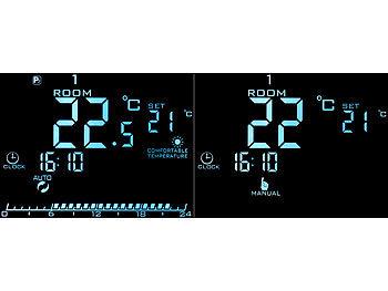 Heiz//K/ühl Modus D DOLITY Wifi LCD Touchscreen Programmierbar Thermostat Wandthermostat Fussbodenheizung