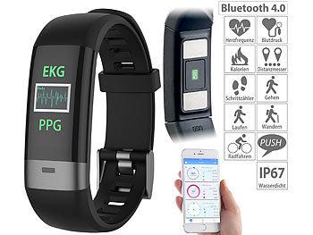 newgen medicals Smartwatch Blutdruck: Fitness-Armband..