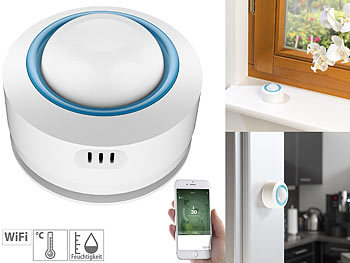 WLAN-Temperatur- & Luftfeuchtigkeits-Sensor, 7-Tage-Datenspeicher, App / Hygrometer