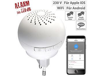 Smarter 2in1 WLAN-Steckdosen-Alarm/-Klingel mit Funk-Gateway 433 MHz / Gateway