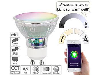 WLAN-LED-Glas-Spot GU10 für Siri, Alexa, Google Assistant, RGB, CCT / Gu10