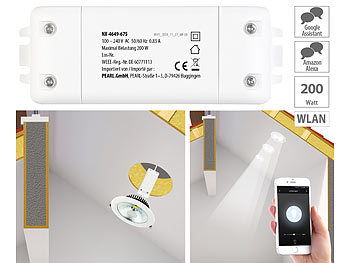 WLAN-Schalter mit Dimmer-Funktion, für Siri, Alexa & Google Assistant / Dimmer