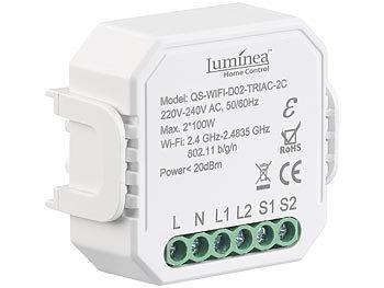 WLAN-Unterputz-2-Kanal-Lichtschalter & -Dimmer, App, Sprachsteuerung / Dimmer