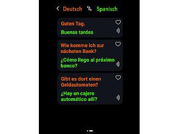simvalley Mobile Sprachenübersetzer: Mobiler Echtzeit