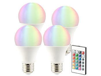 Hochwertig ... Luminea LED Lampe In RGB + Warmweiß, E27, 10 Watt, Fernbedienung, ...