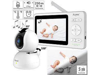 Video-Babyphone, dreh- & schwenkbare Kamera, 11 cm (4,3