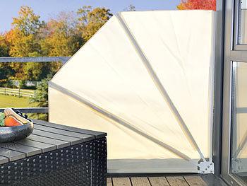 royal gardineer balkonf cher balkon sichtschutz f cher 160 x 140 cm beige sichtschutzf cher. Black Bedroom Furniture Sets. Home Design Ideas