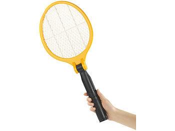 Infactory mückenschläger: elektrische fliegenklatsche mit klappbarem