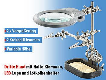 Dritte Hand mit Klemmen und LupeZD-10D