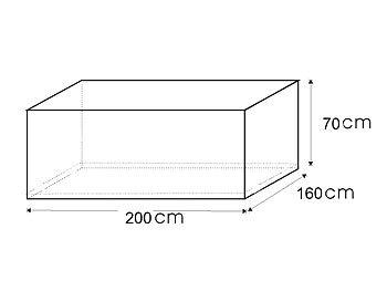 royal gardineer gewebe abdeckplane f r rechteckigen tisch. Black Bedroom Furniture Sets. Home Design Ideas