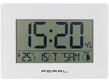 Digitale Funkwanduhr Funkuhr Wanduhr Tischuhr Senioren Funk Uhr LCD Temperatur