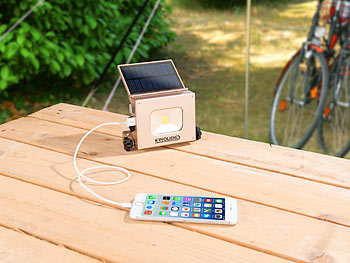 Solar-LED-Fluter mit intergrierter Powerbank