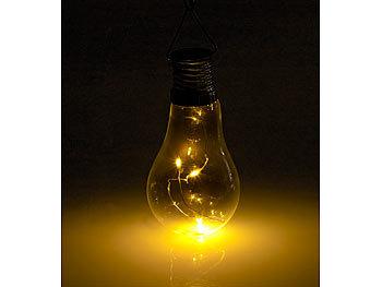 Super Lunartec Solar Birne: Solar-LED-Lampe in Glühbirnen-Form, 3 TC43