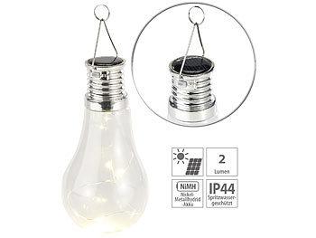 lunartec lampe gl hbirnenform solar led lampe in. Black Bedroom Furniture Sets. Home Design Ideas