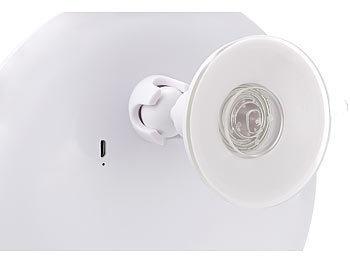 sichler beauty rasierspiegel saugnapf kosmetikspiegel mit led licht und akku 5 fache. Black Bedroom Furniture Sets. Home Design Ideas