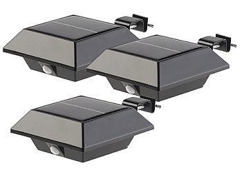 6er-Set Solar 25LEDs Dachrinnenlampe Dachrinnenleuchte mit PIR Bewegungssensor