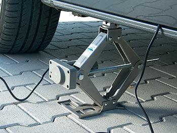 E-HEELP Elektrischer Wagenheber 3T 12V Hebebereich 12-42cm Scherenwagenheber mit Elektrischem Schraubenschl/üssel f/ür SUV Reifenwechsel