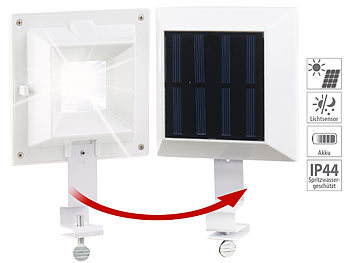 Solar-LED-Dachrinnenleuchte, 6 SMD-LEDs, 20 Lumen, IP44, Licht-Sensor | Dachrinnenleuchte