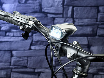 kryolights fahrradleuchten set led fahrradlampe mit licht sensor akku inkl r cklicht stvzo. Black Bedroom Furniture Sets. Home Design Ideas