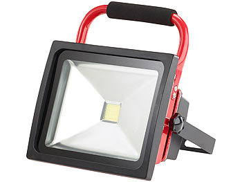 2X30W Kaltwei/ß + Stativ HENGMEI LED Fluter Akku Baustrahler Arbeitsleuchte Strahler Flutlicht Scheinwerfer handlampe f/ür Camping