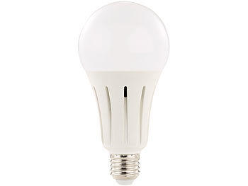 Luminea High-Power-LED-Lampe E27, 24 Watt, 2.250 Lumen, warmweiß 3.000 K Luminea LED-Tropfen E27 (neutralweiß)