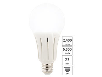 Luminea 2er-Set High-Power-LED-Lampen E27, 24 Watt, 2.452 Lumen, 6.500 K