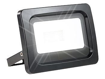 luminea strahler wetterfester led fluter 50 w lm ip65 k tageslichtwei. Black Bedroom Furniture Sets. Home Design Ideas