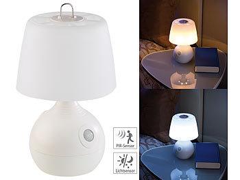 lunartec tischleuchten led tischlampe pir licht sensor warmwei tageslichtwei 30 lm. Black Bedroom Furniture Sets. Home Design Ideas