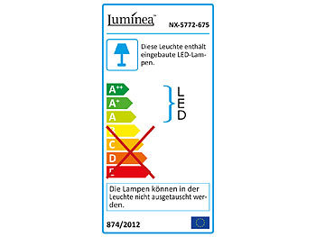 Luminea Mini-LED-Fluter, PIR-Bewegungssensor, 10 Watt, 800 lm, warmweiß, IP44 Luminea Mini-LED-Fluter mit PIR-Sensor (warmweiß)