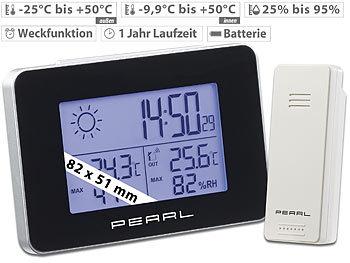 Funk Wetterstation Farbdisplay Außensensor Digitale Wecker Thermo-//Hygrometer